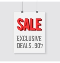 Big sale poster wall frame mockup vector