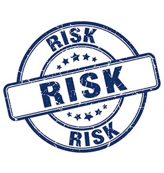 Risk blue grunge round vintage rubber stamp vector