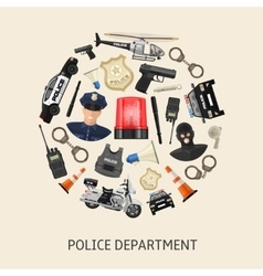 Round police composition vector