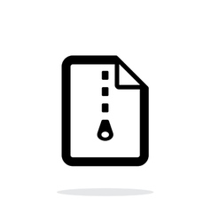 Archive file icon on white background vector
