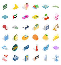 Bikini icons set isometric style vector