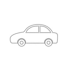 Car sign black dotted icon vector