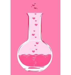 Chemistry love flask vector
