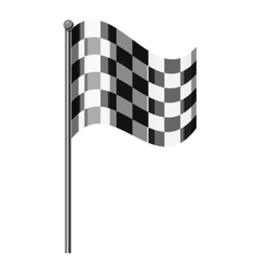 Chequered flag icon gray monochrome style vector