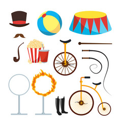 Circus trainer items set circus vector
