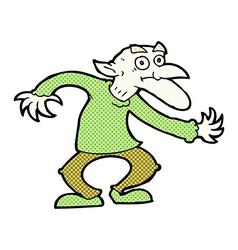 Comic cartoon goblin vector