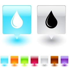 drop square button vector image vector image