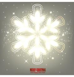 Elegant glowing snowflake Background vector image vector image