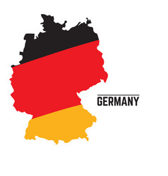 flag and map of germany vector image vector image