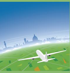 Florence skyline flight destination vector
