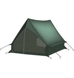Green tent vector image