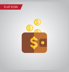 isolated pouch flat icon payment element vector image