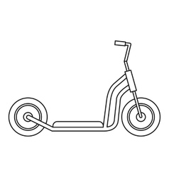 Kick scooter icon outline style vector
