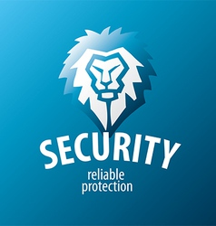 Lion logo for security guards vector