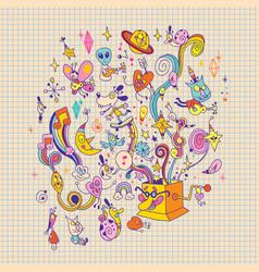music box vector image