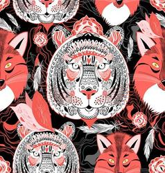 portraits of beautiful tigers vector image vector image