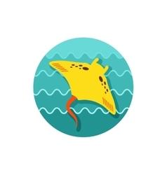 Ramp fish icon summer vacation vector