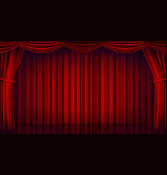 Red theater curtain theater opera or cinema vector