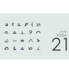 Set of yoga icons vector image