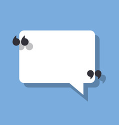 speech bubble and quotation marks vector image