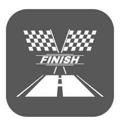The race flag icon Finish symbol Flat vector image