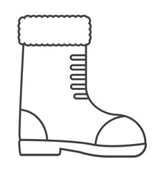 thin line boots icon vector image vector image