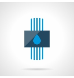 Water heating system modern flat icon vector