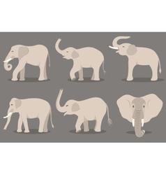 White elephant set vector