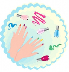 woman's hand vector image