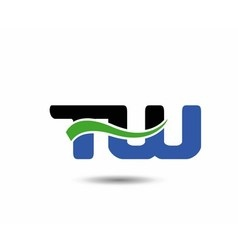 Wt initial company group logo vector