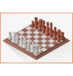 Isometric chess piece chessmen vector