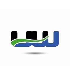 Uw company linked letter logo icon vector