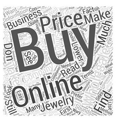 How to buy jewelry wholesale online word cloud vector