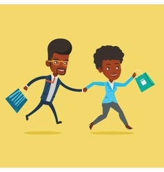 People running in hurry to the store on sale vector