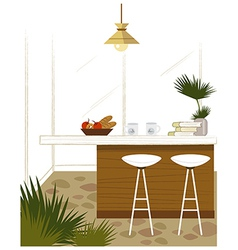 Modern kitchen bar vector