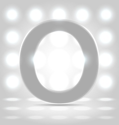 O over lighted background vector