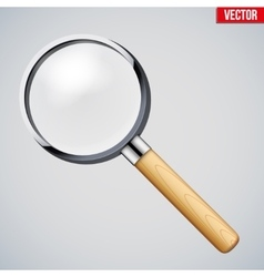 Vintage magnifying glass vector