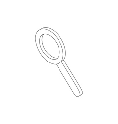 Magnifying glass icon isometric 3d style vector