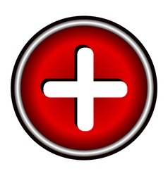 Red cross icon vector