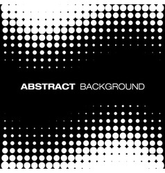 Abstract Black Halftone Background vector image