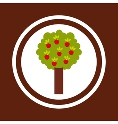 Apple tree nature icon vector