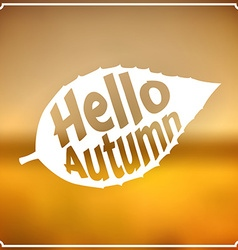 Autumn sign vector image
