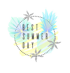 Best summer day tropical exotic plants stylish vector