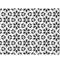 Black and white seamless pattern of snowflakes vector