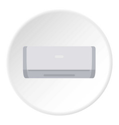 Ceramic heater icon circle vector