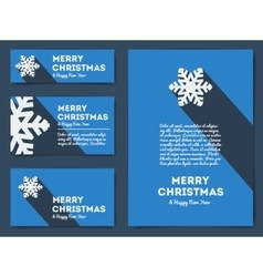 Collection of Christmas banners with snowflake vector image vector image