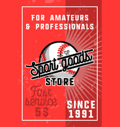 Color vintage sport goods banner vector