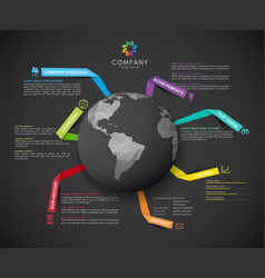 Company infographic overview design template with vector