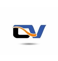Cv company linked letter logo vector
