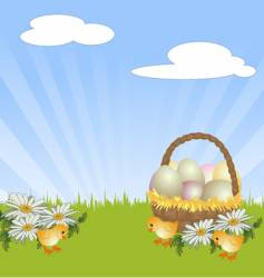Easter chicks vector image vector image